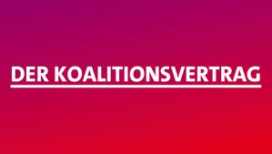Banner Koalitionsvertrag